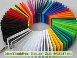 Sản phẩm mica thương hiệu ChoChen đa dạng về màu sắc